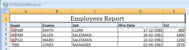How to Display Leading Zeros in XMLP Report - Excel Output