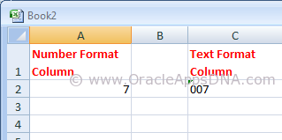 String vs Number in Excel