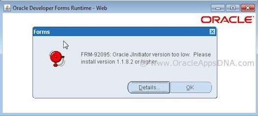 Java JInitiator Version Issue