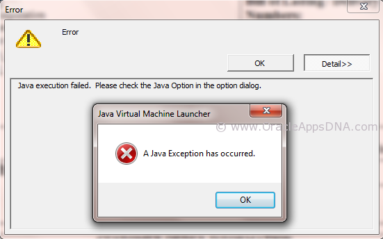 XMLP - Java Execution Failed