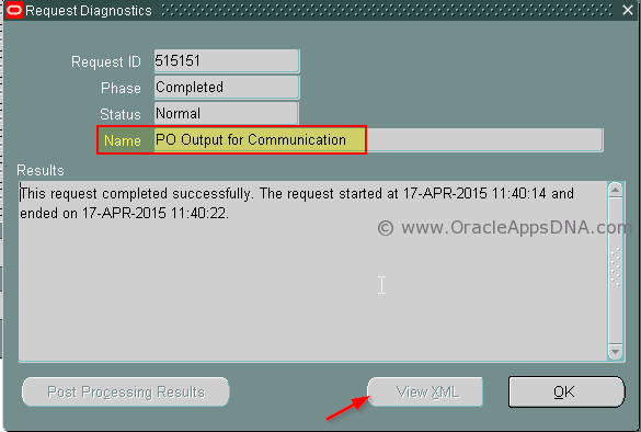 7.PO Output for Communication - View XML Disabled