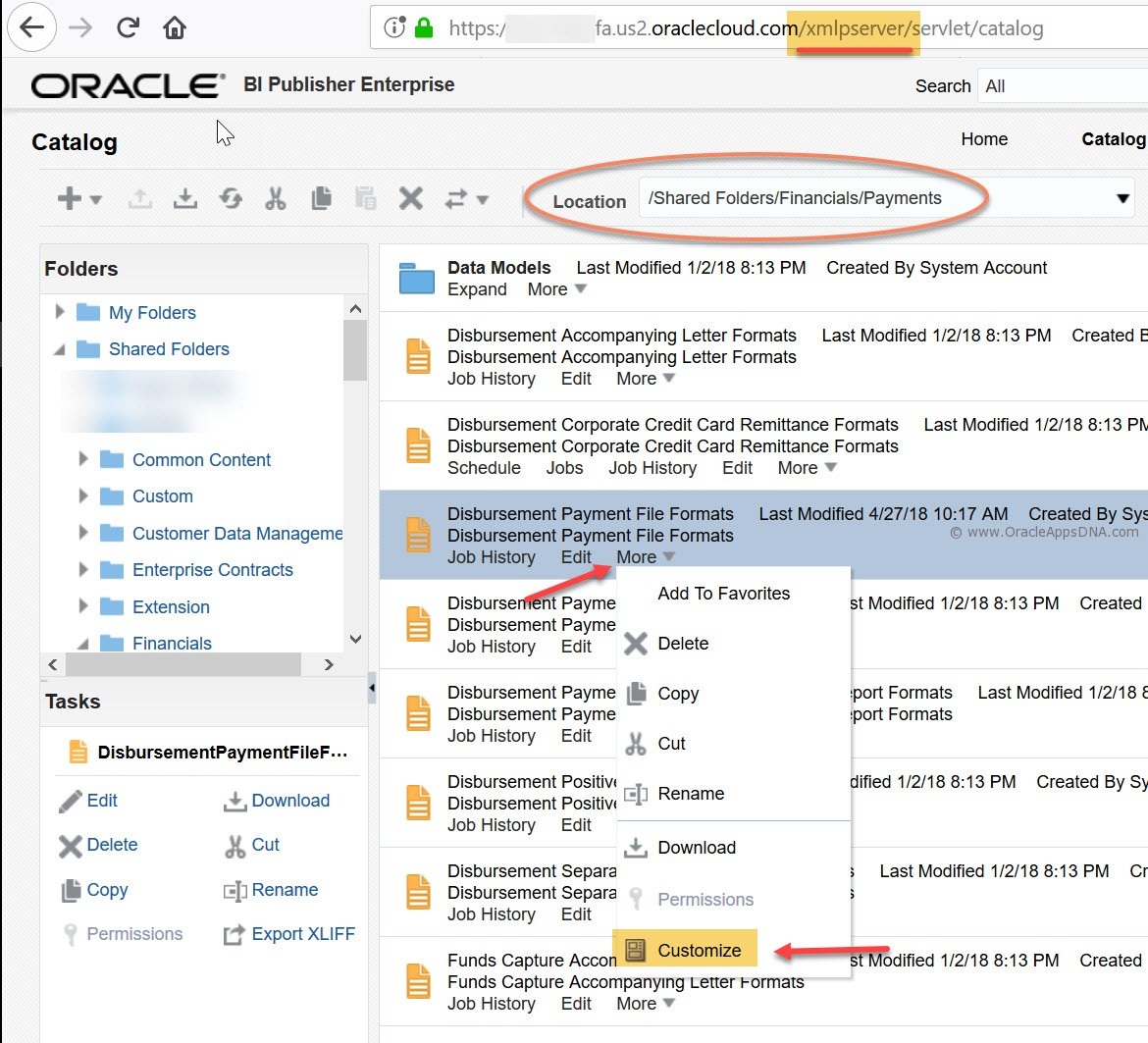 How to customize seeded BIP reports in ERP Cloud | OracleAppsDNA